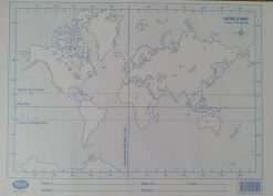 A world paper map which is an essential school stationery in Sri Lanka